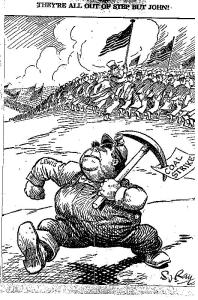 Cartoon zum Kolhearbeiter-Streik