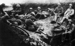Gefechtspause österreich-ungarischer Soldaten
