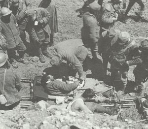 Versorgung italienischer Verwundeter