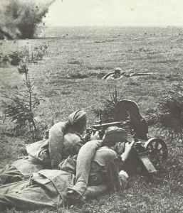 Russische Infanterie im Gefecht