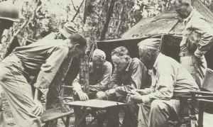 Admiral Halsey auf Bougainville