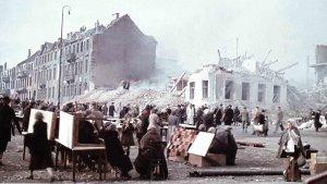Kassel nach den Luftangriffen im Oktober 1943