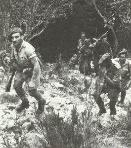 Britische Soldaten in Süd-Italien