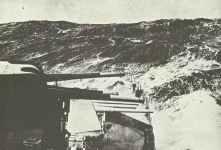 HMS Sheffield in schwerer See während der Schlacht am Nordkap