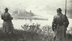 Französische Soldaten auf der Festung Ehrenbreitstein