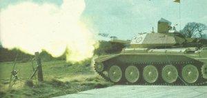 Crusader-Panzer Testschiessen