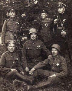 Estnische Soldaten im Jahr 1919