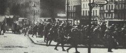 Kämpfe zwischen Regierungstruppen und Arbeitern im März 1919 in Berlin