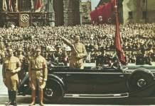 Hitler beim Reichsparteitag 1938