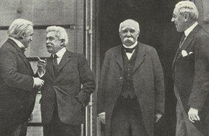 Lloyd George, Orlando, Clemenceau, Wilson