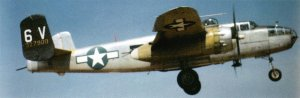 Landung eines B-25 Mitchell Bombers