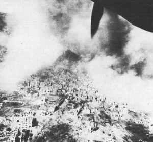 Ortschaft Cassino nach dem Luftschlag