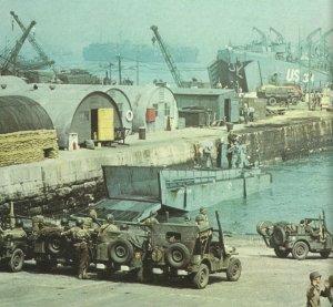 Nachschub für Normandie