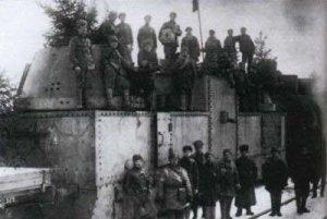 Roter Panzerzug an der Südfront