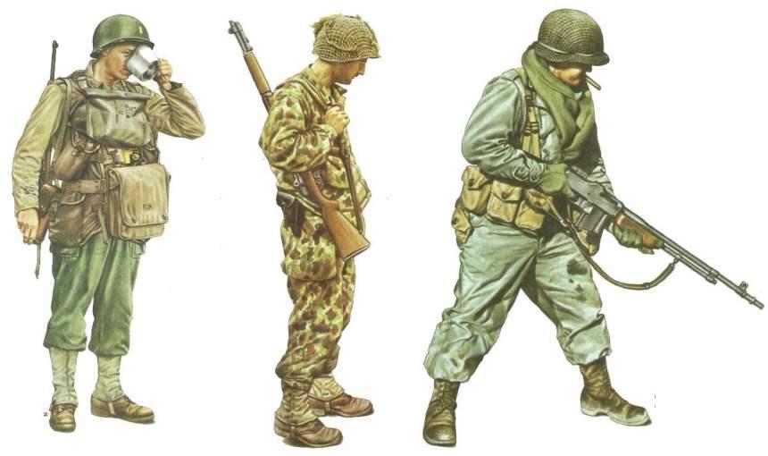 US-Uniformen 1944-45