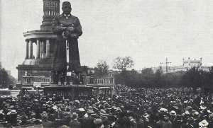 Protestversammlung der SPD gegen den Versailler Vertrag