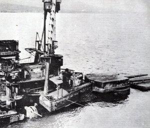 selbst versenktes Kriegsschiff in Scapa Flow