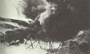US-Pioniere sprengen deutsche Festungsanlagen