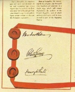 amerikanischen Unterschriften unter dem Vertrag von Versailles