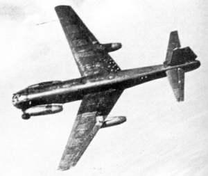 Ju 287 V1 im Flug