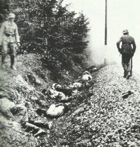 Polnische Opfer einer Geiselerschießung