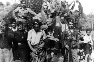 Chetnik-Guerillas und Deutsche