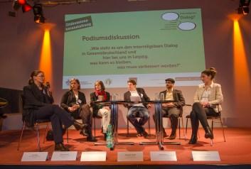 """Podiumsdiskussion zum Thema """"Wie steht es um den interreligiösen Dialog in Gesamtdeutschland und hier bei uns in Leipzig, was kann so bleiben, was muss verbessert werden?"""""""
