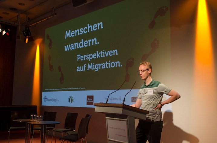 Peter Niemann, Vorsitzender des Bürgervereins Gohlis e.V., begrüßte als Gastgeber die Teinehmer.