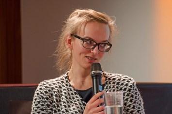 Christiane Reinecke, Universität Leipzig, bei der Podiumsdiskussion