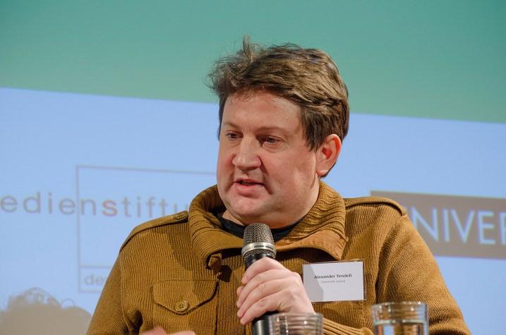 Alexander Yendell, Universität Leipzig, bei der Podiumsdiskussion