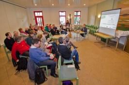 Peter Niemann, Vorsitzender desd Bürgerverein Gohlis e. V. eröffnete als Gastgeber die Veranstaltung