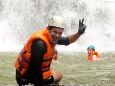 erster Wasserfall geschafft
