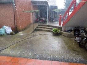 Regenpause an der Seidenfabrik