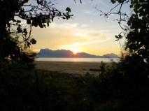 Sonnenuntergang auf der Insel