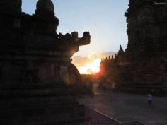 Tempelsonnenuntergang
