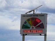 Bushfeuerrisiko heute: Extrem!