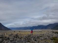 Das Tal vor dem Tasmangletscher.