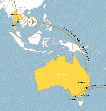 Bankok nach Brisbane (14.11.)