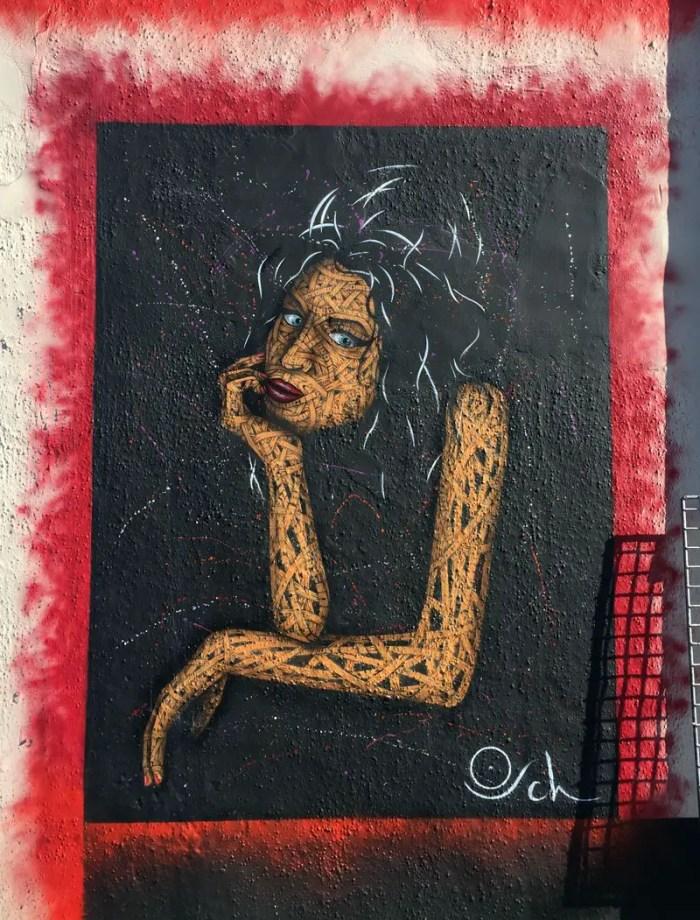 Amy Winehouse Street Art Portrait