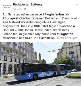 Flughafenbus-Budapest