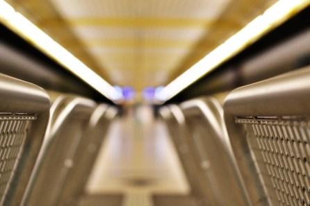 U3 in München: Thalkirchen Bank Close-Up