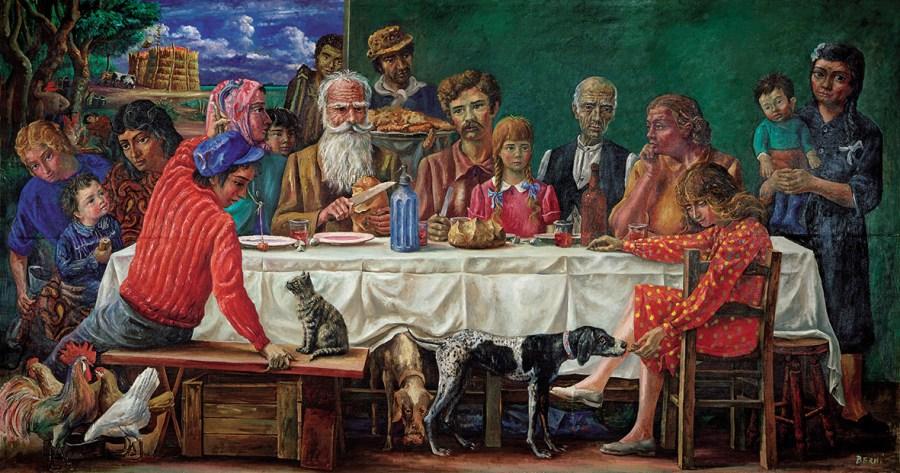 Antonio Berni, SUNDAY AT THE FARMHOUSE OR THE LUNCH