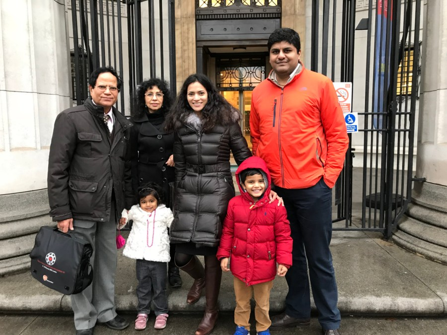 Kings-Business-School-London-with-parents-kids-and-husband