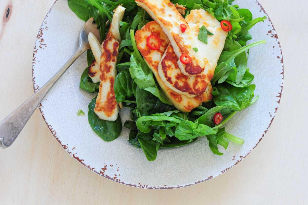 halloumi & couscous salad