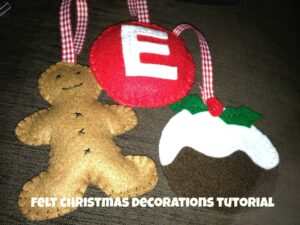 felt christmas decorations tutorial