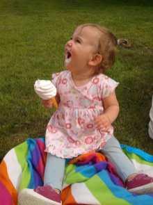 Enjoyed ice cream and picnics