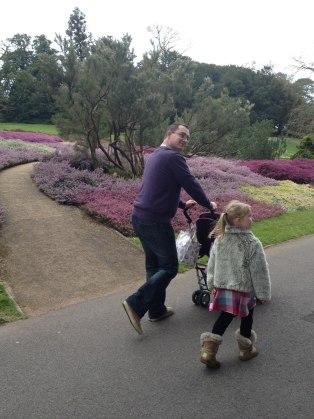 Walking through the beautiful gardens