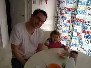 Brekkie with Daddy
