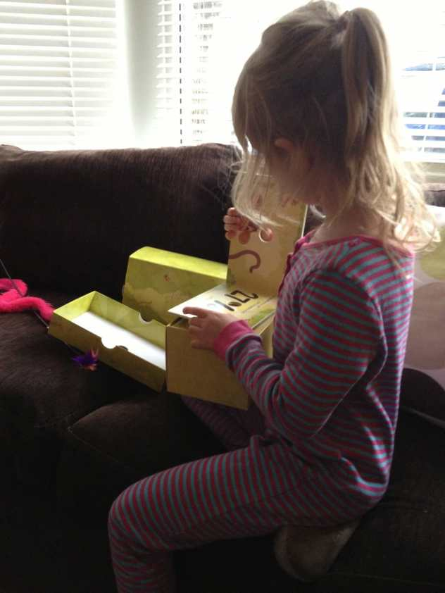 Opening the box with excitement!