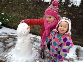We built a snowman